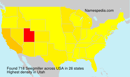 Surname Seegmiller in USA