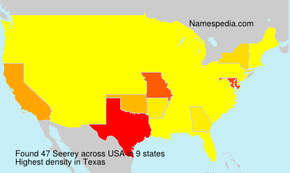 Surname Seerey in USA