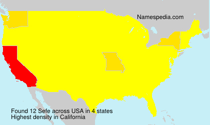 Surname Sefe in USA