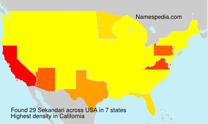 Surname Sekandari in USA