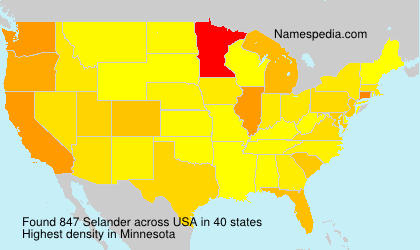 Surname Selander in USA