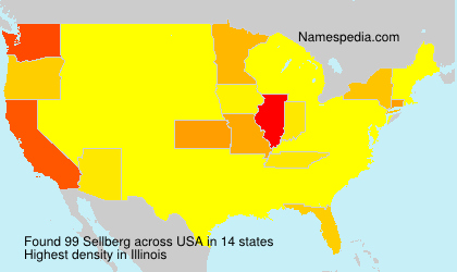 Surname Sellberg in USA