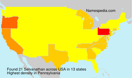 Surname Selvanathan in USA
