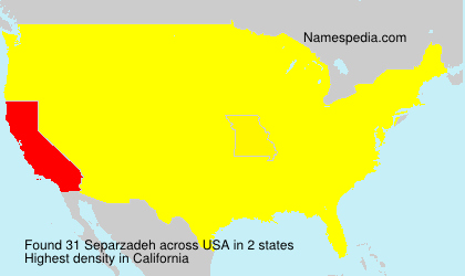 Surname Separzadeh in USA