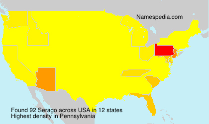 Surname Serago in USA