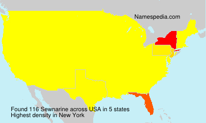 Surname Sewnarine in USA