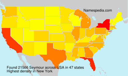 Surname Seymour in USA