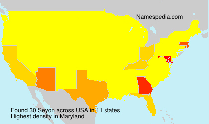 Surname Seyon in USA