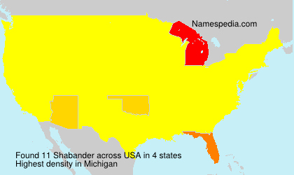 Surname Shabander in USA