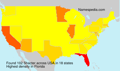 Surname Shacter in USA