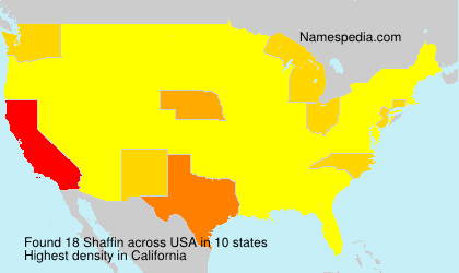 Surname Shaffin in USA