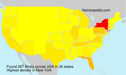 Surname Shala in USA