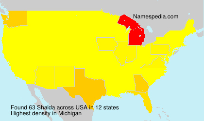 Surname Shalda in USA