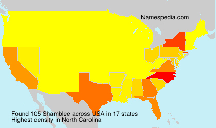 Surname Shamblee in USA