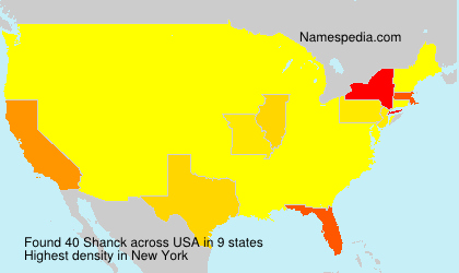 Surname Shanck in USA