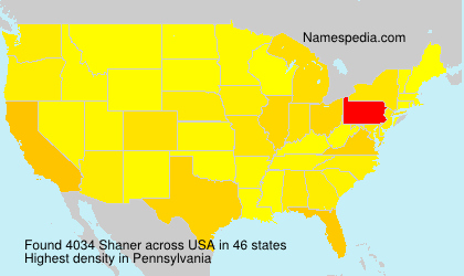 Surname Shaner in USA