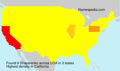 Surname Shaparenko in USA