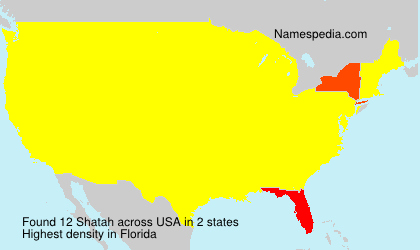 Surname Shatah in USA