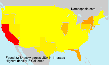 Surname Shatsky in USA