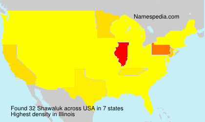 Surname Shawaluk in USA