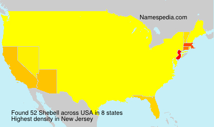 Surname Shebell in USA