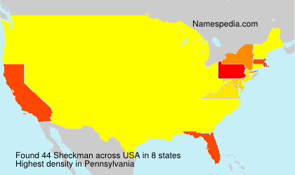 Surname Sheckman in USA