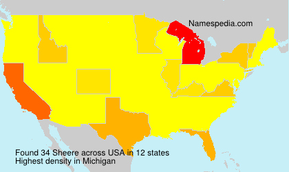 Surname Sheere in USA