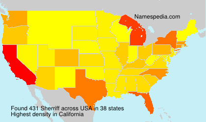 Surname Sherriff in USA