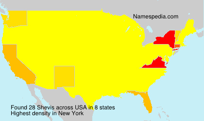 Surname Shevis in USA