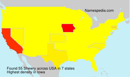 Surname Shewry in USA