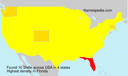 Surname Shille in USA
