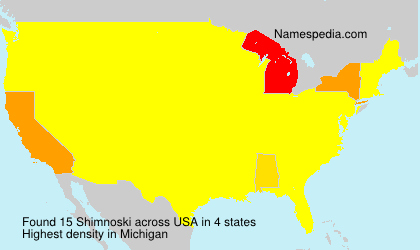 Surname Shimnoski in USA