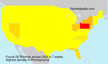 Surname Shimrak in USA
