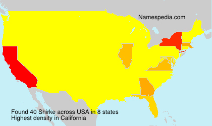 Surname Shirke in USA