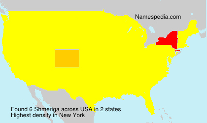 Surname Shmeriga in USA
