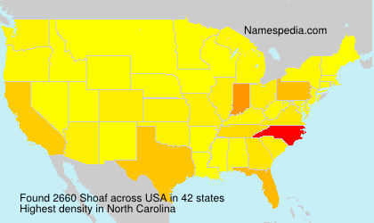 Surname Shoaf in USA