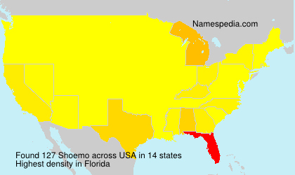 Surname Shoemo in USA