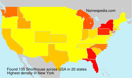 Surname Shorthouse in USA