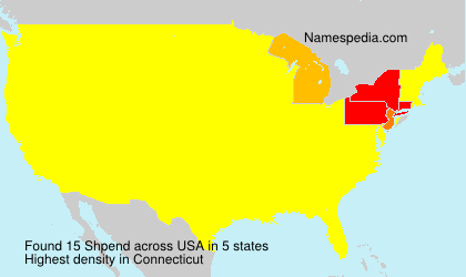 Surname Shpend in USA