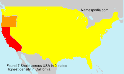Surname Shpiel in USA