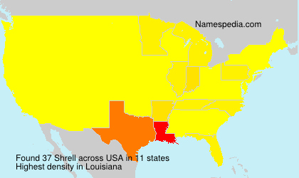 Surname Shrell in USA