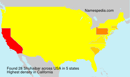 Surname Shuhaibar in USA