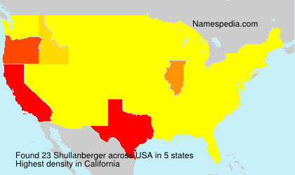 Surname Shullanberger in USA