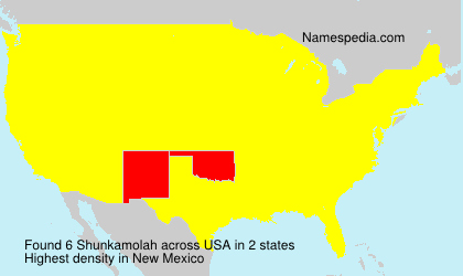 Surname Shunkamolah in USA
