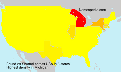 Surname Shuttari in USA