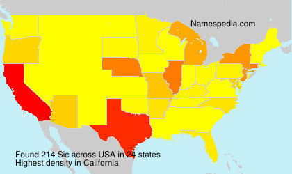 Surname Sic in USA