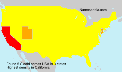 Surname Siddhi in USA