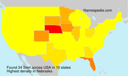 Surname Siert in USA