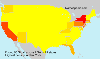 Surname Sigall in USA