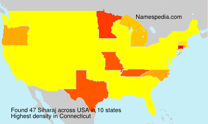 Surname Siharaj in USA